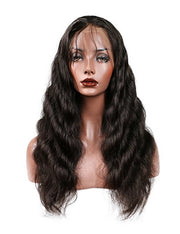 100% Virgin Remy Human Hair Full Lace Wig - Brazilian Natural Loose Wave - MyHairGold