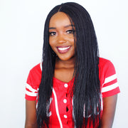 Black Microtwists Braided Wig - MyHairGold