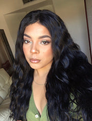 100% Virgin Remy High Density Full Lace Brazilian Loose Wave Wig 22""