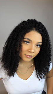 100% Virgin Remy Kinky Curly Full Lace Wig - MyHairGold