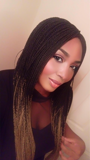 Ombré Black and Blonde Long Twists Braided Wig - MyHairGold