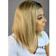 100% Virgin Remy Short Bob Ombré Full Lace Wig