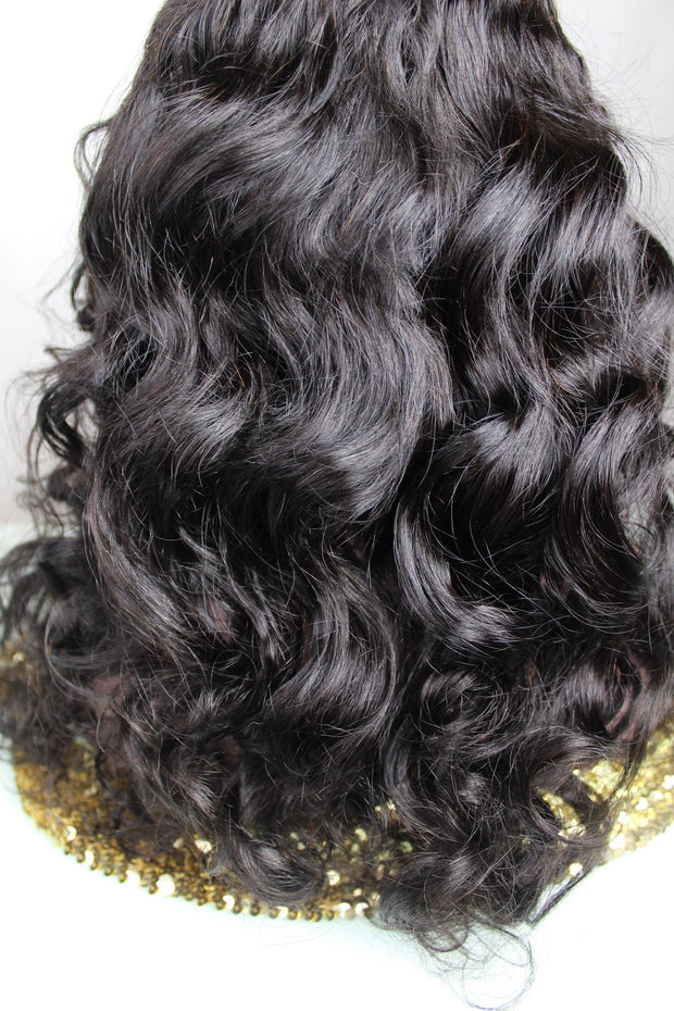 100% Virgin Remy Wavy Full Frontal Wig