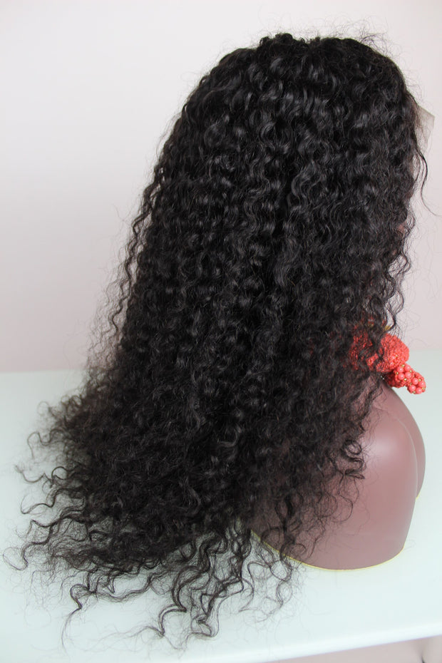 100% Virgin Remy Wet Curls Full Lace Wig