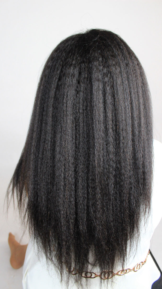 100% Virgin Remy Yaki Coarse Straight Full Lace Wig
