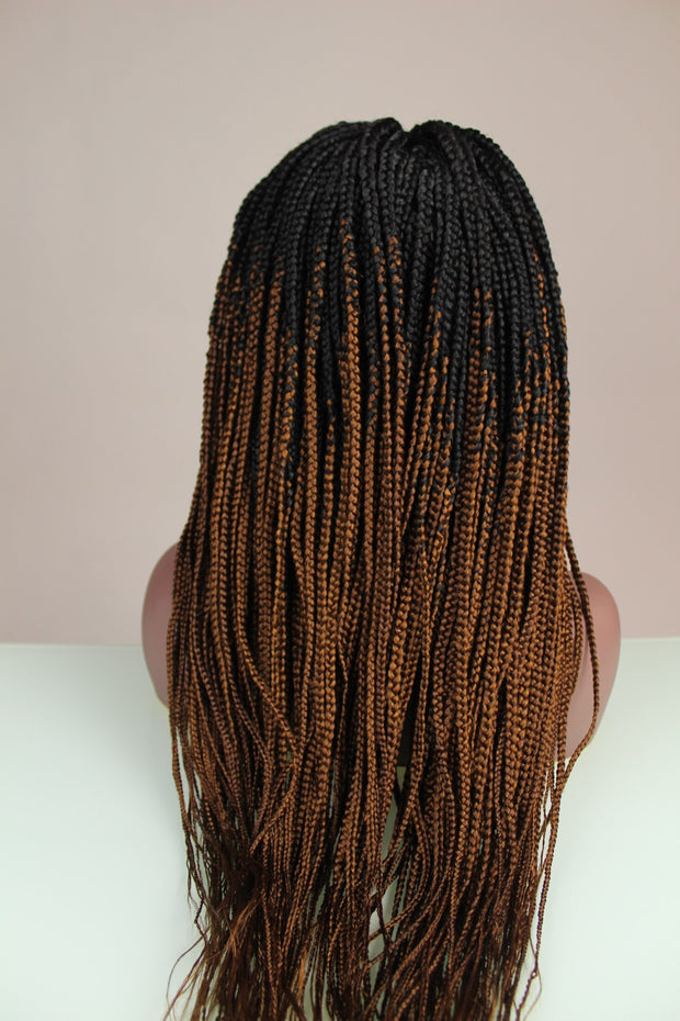 Ombré Box Braids Black & Wine Color - MyHairGold