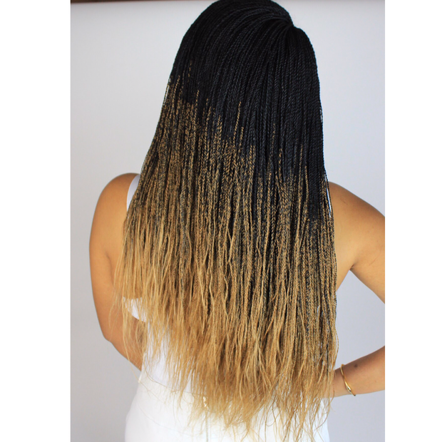 Ombré Black and Blonde Long Twists Braided Wig