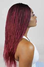 Red Auburn Micro Twists Braided Wigs