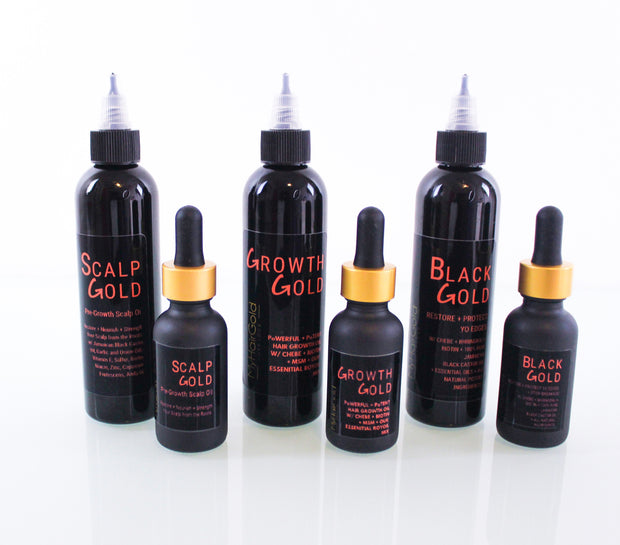 The Gold Pack: All Three Hair Growth Oils - MyHairGold