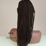 360 Lace Frontal Twists Braided Wig