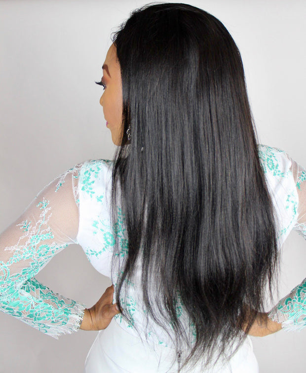 100% Virgin Remy Straight Full Lace Wig