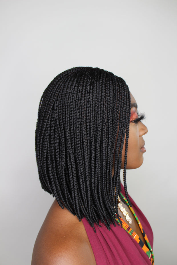 Bob Braided Wig - Black - MyHairGold
