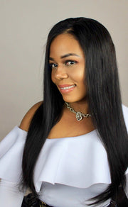 100% Virgin Remy Brazilian Straight Full Lace Wig - MyHairGold