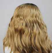 Ombré Blonde w/ Dark Roots Loose Wave Synthetic Wig - MyHairGold