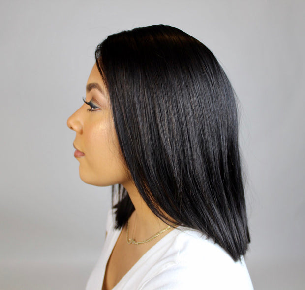 "100% Virgin Remy Short Black Bob 12"" - MyHairGold"