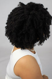 100% 10A Human Hair Afro Coily Wig