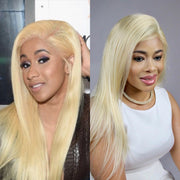 100% Virgin Cuticle Platinum Blonde Full Lace Wig