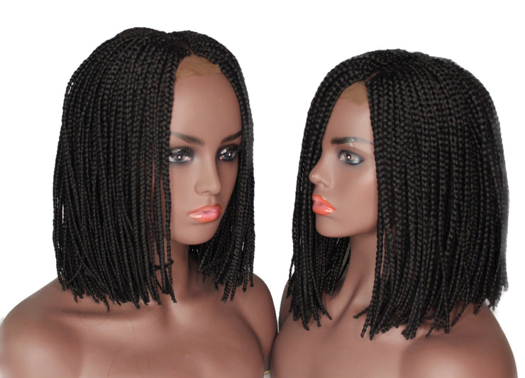 Bob Braided Wig - Black