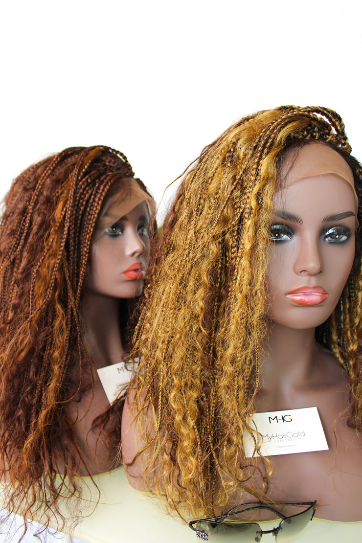 Boho Braided Wig 13*4 Lace Frontal - MyHairGold