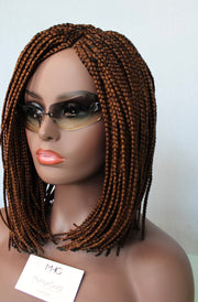 Bob Braided Wig with Lace Closure in Color 30