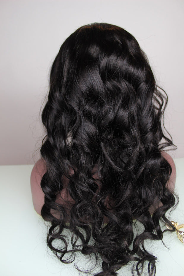 100% Virgin Remy Body Wavy Full Lace Wig