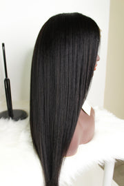 100% Virgin Yaki Coarse Straight Full Lace Wig - MyHairGold