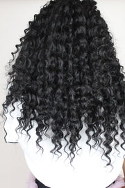 Bouncy Deep Curl Keratin Synthetic Lace Front Wig