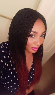Micro Twists in Ombre Black and Wine Color - MyHairGold