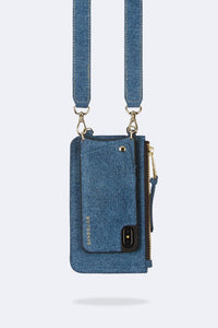 Cleo Pouch - Denim/Gold