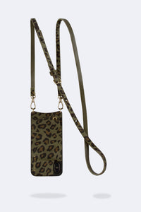 Emma Pony Hair Cheetah Crossbody Bandolier - Green/Gold
