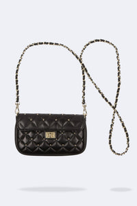 Lucy Large Convertible Belt Bag - Black/Gold