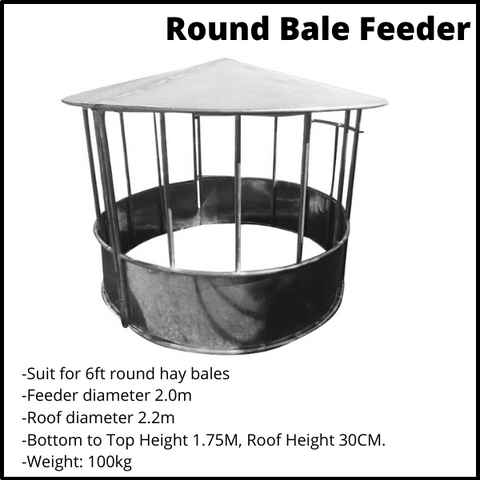 Round Bale Feeder with roof