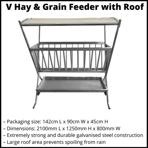 V Hay and Grain Feeder with Roof
