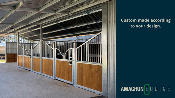 Custom made stable partition according to your design.