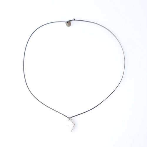 WILD Single Thread Necklace/Chocker Africa - Grey