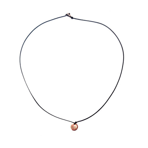 WILD Single Thread Necklace/Chocker Plate Luck - Black