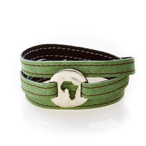 BOLD Reversible suede Bracelet and Choker Africa - Black/Olive Green - No Memo