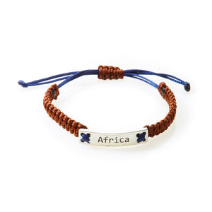 CHAMP Macrame Bracelet Africa - Choc Brown/Navy Blue - No Memo