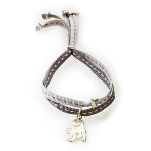 CHEEKY Bracelet with ribbons Monkey - Dark grey/Light Grey - No Memo