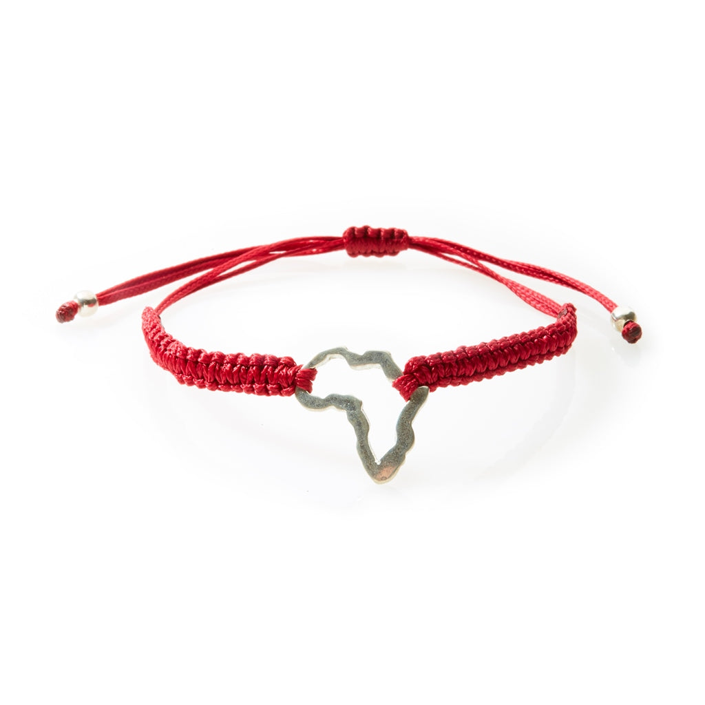 COOL Macrame Bracelet Africa - Red - No Memo