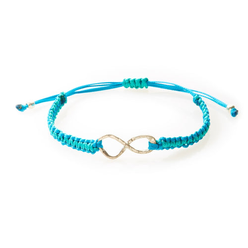 COOL Macrame Bracelet Infinity - Turquoise/Teal - No Memo