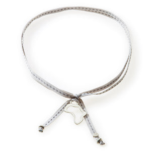 FEISTY Ribbon Necklace & Choker Africa - Light Grey - No Memo