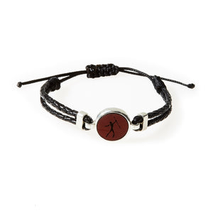 HUNK Braided leather Bracelet Hunter - Black - No Memo