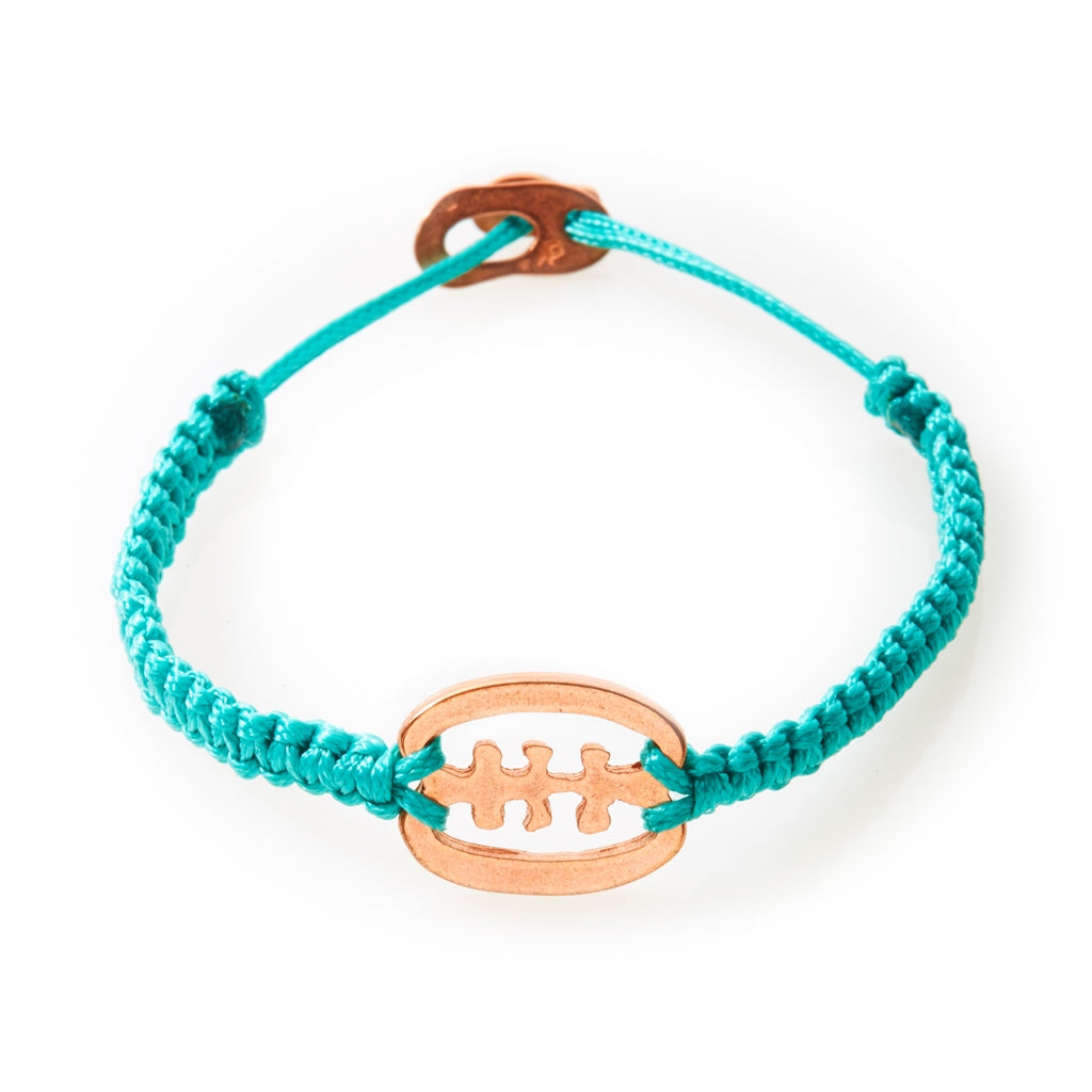 ICON Macrame Bracelet Friendship - Teal - No Memo