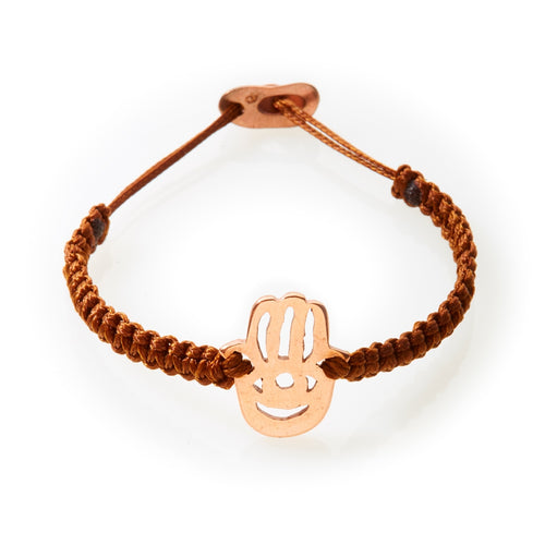 ICON Macrame Bracelet Hamsa - Brown - No Memo