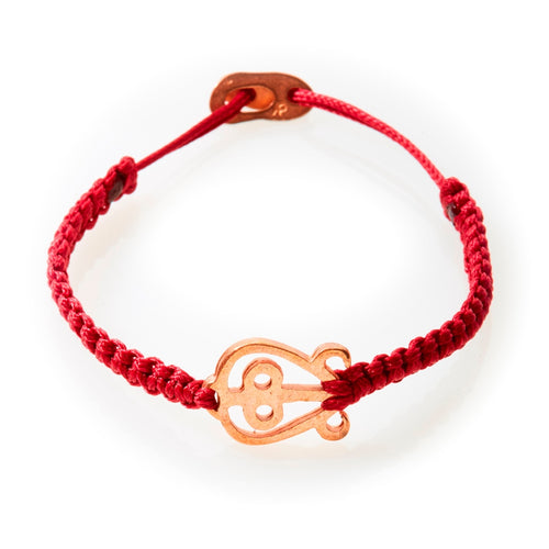 ICON Macrame Bracelet Love - Red - No Memo