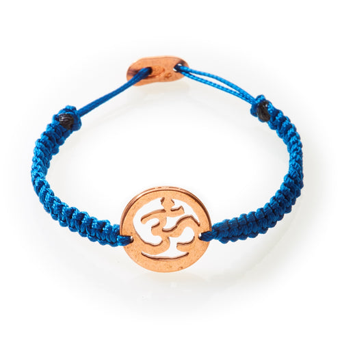 ICON Macrame Bracelet Om - Navy Blue - No Memo