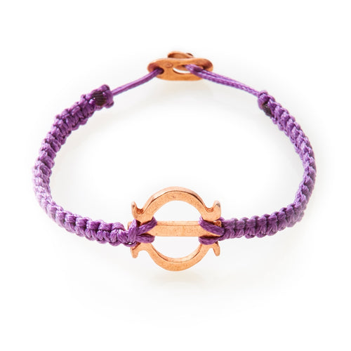 ICON Macrame Bracelet Tenacity - Purple - No Memo
