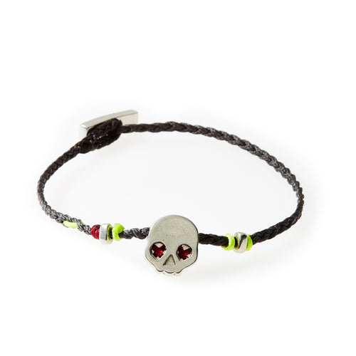LEGEND Braided Bracelet Skull - Dark Grey - No Memo
