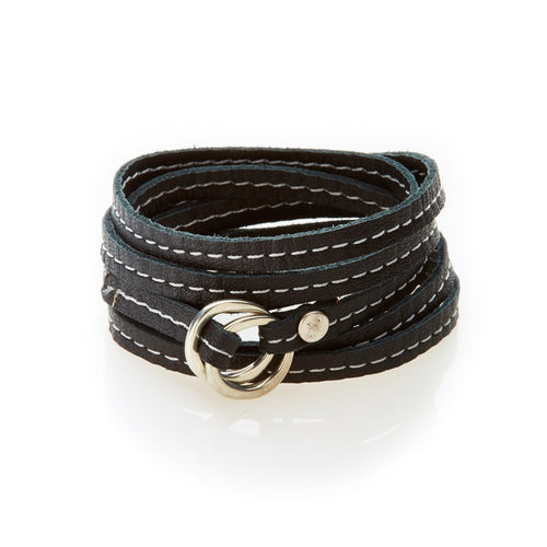 REBEL Versatile leather wrap Black - No Memo
